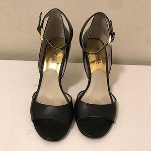 Michael Kors open toe ankle strap heels